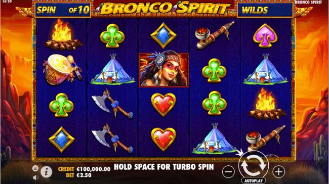 Bronco Spirit Slot look & Feel