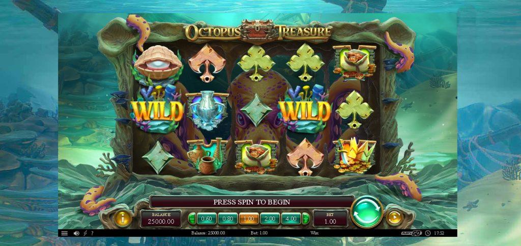 Octopus Treasure Slot Look & Feel