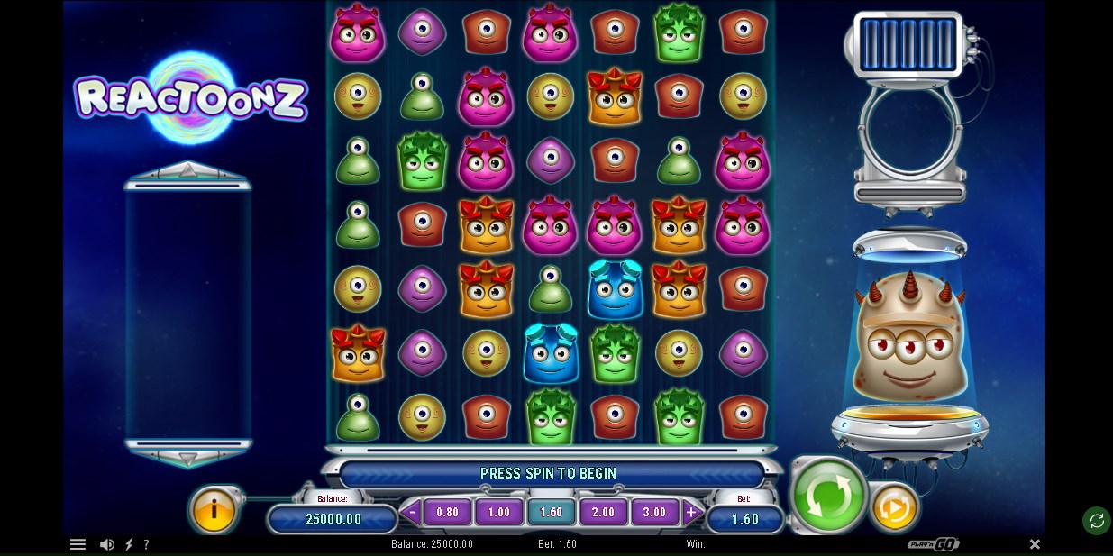 Reactoonz Slot Look & Feel